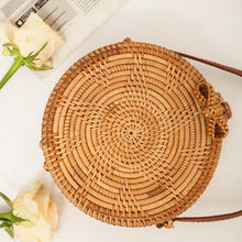 Load image into Gallery viewer, Hand Woven Straw Bohemian Island  Beach Circle Bag - Bella Trading Post