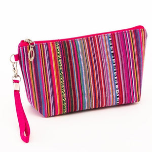 Vintage Style Women's Cosmetic Travel Retro Makeup Bag and Beauty Organizer - Bella Trading Post