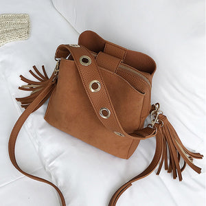 Women's Vintage Tassel Retro Shoulder Bag - Bella Trading Post