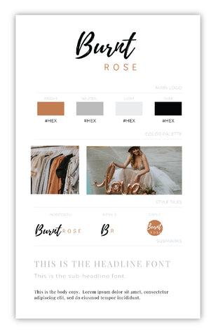 Burnt Rose Brand Canva Template