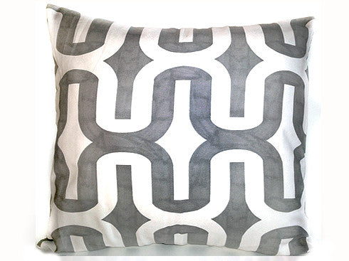 Ikat Gray Pillow 18x18