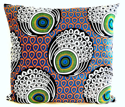 Feathered Print Pillow Cover