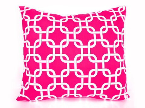 Chain link Signature Pink Pillow 18x18