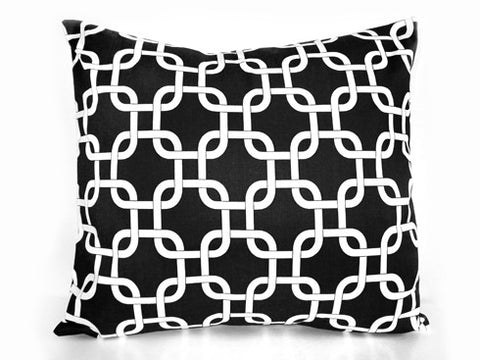 Chain Link black Pillow 18x18