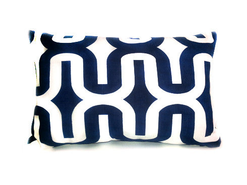 Small Ikat Navy & White 12x16