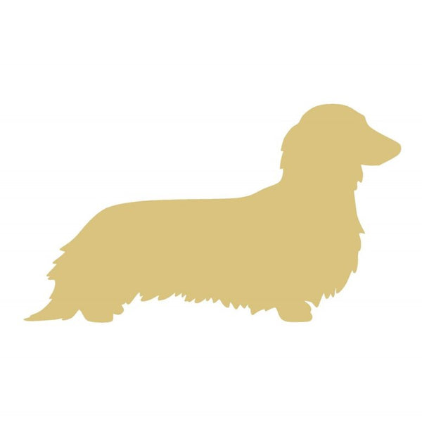 Dachshund Long Haired 12 Inch Wood Cut Out