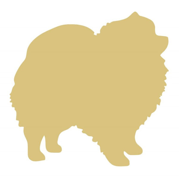 Pomeranian 12 Inch Wood Cut Out