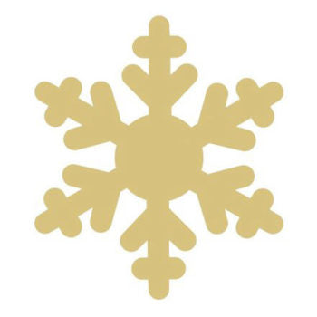 Snowflake Wood Backing 12 Inch