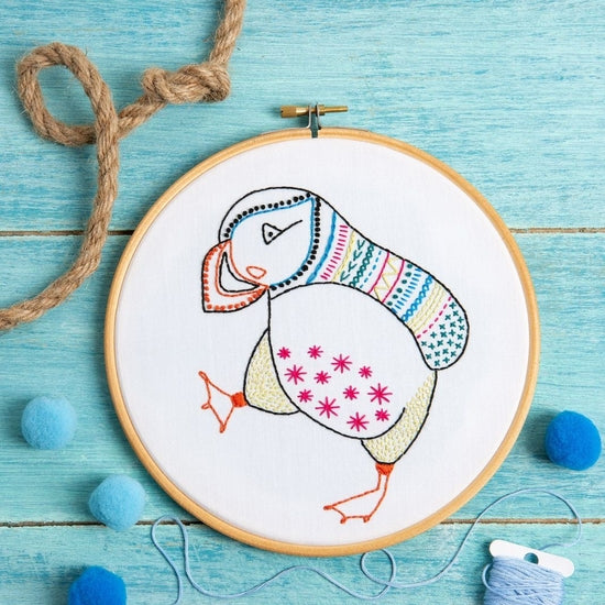 Puffin Embroidery Kit