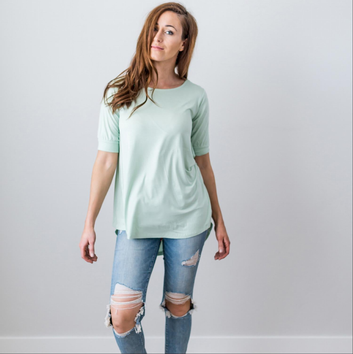 Sage Summer Sale Women's Sexy Back Criss Cross Short Sleeve Blouse Top Sage S-L USA