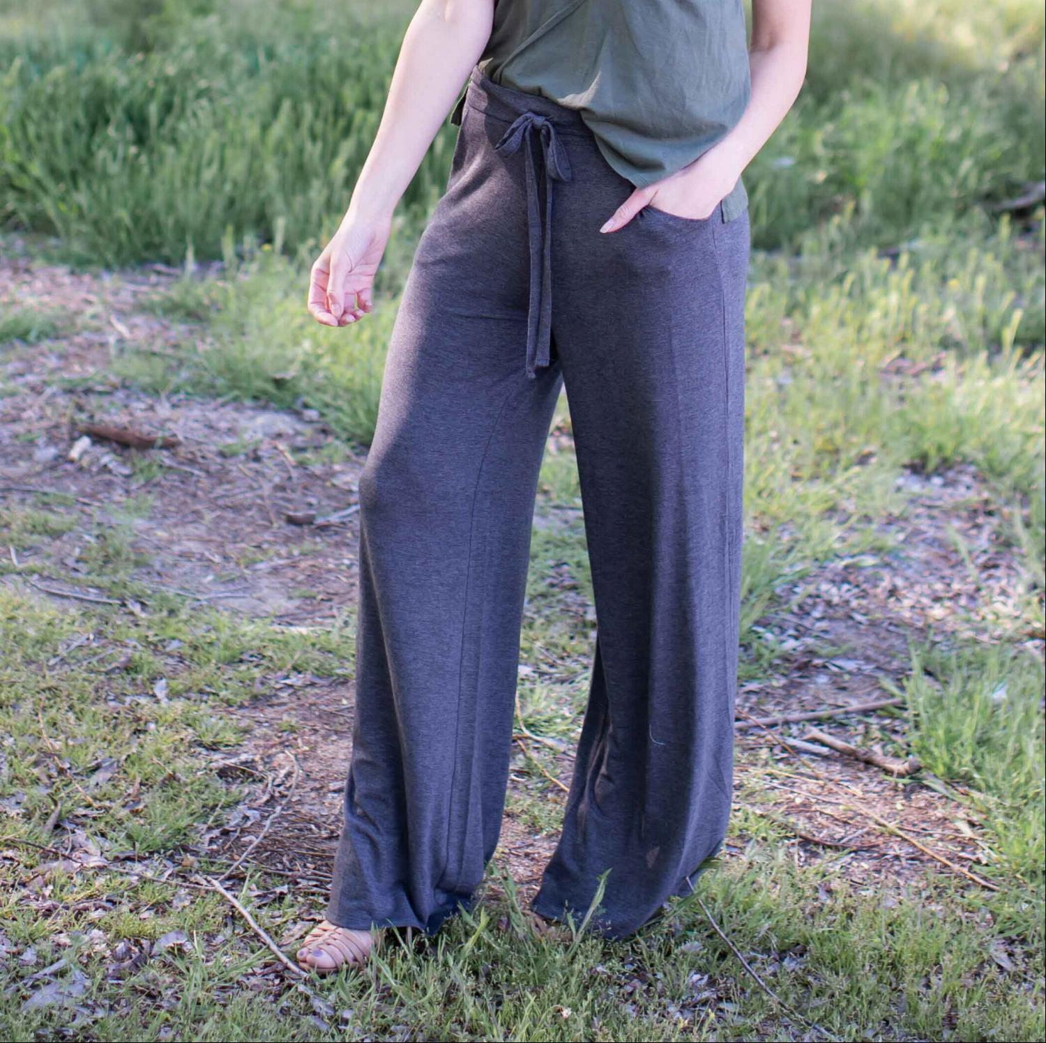 Charcoal Premium Fabric Lounge Pants