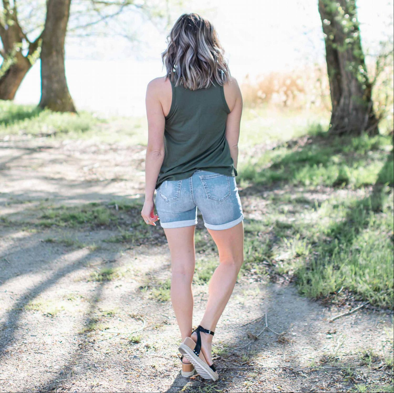 Light Pull On Denim Shorts