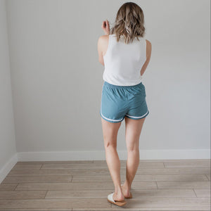 Teal Active Dolphin Hem Shorts