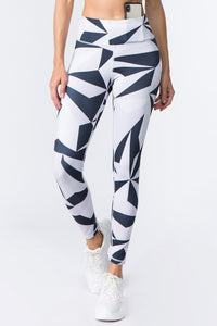 Grey Active High Rise  Print Workout Legging