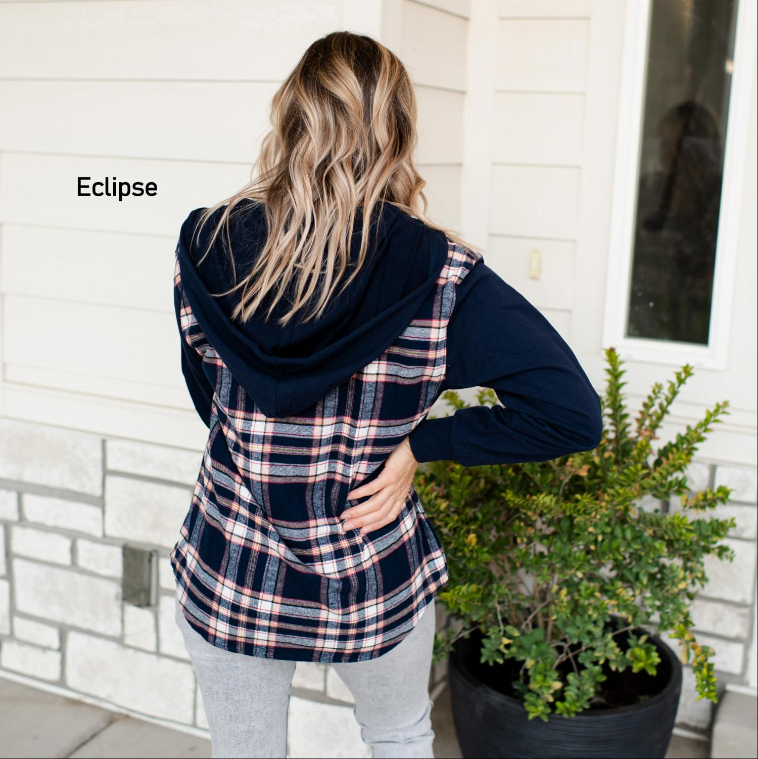 Eclipse Women's Sweatshirt Hoodie Pumpkin Drawstring Curved Hem Long Sleeves Fall USA