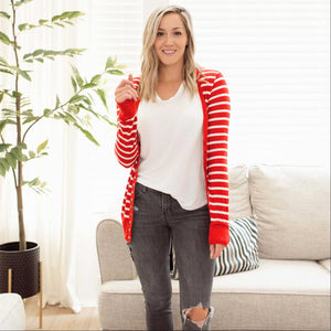 Ruby Striped Sweater Cardigan