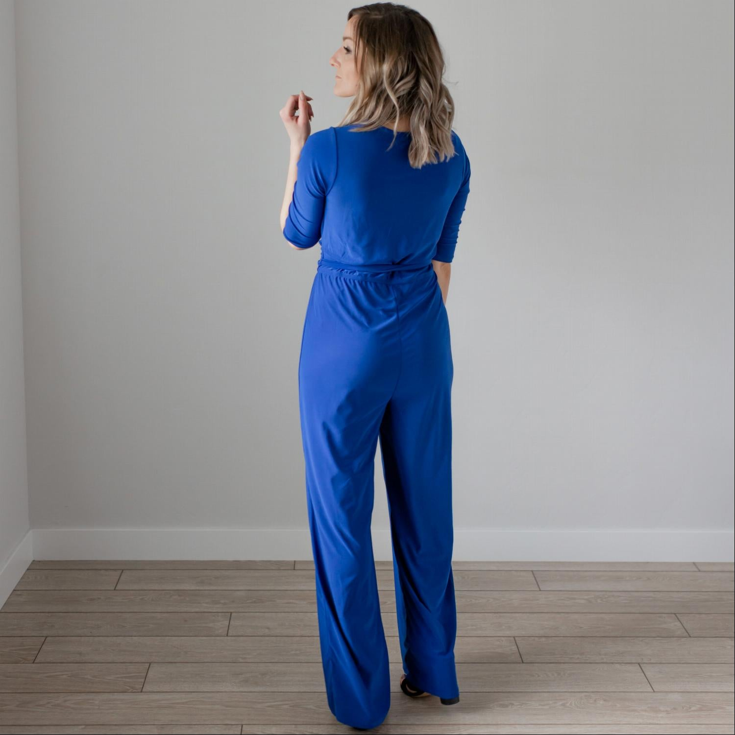 Denim Wrap Jumpsuit