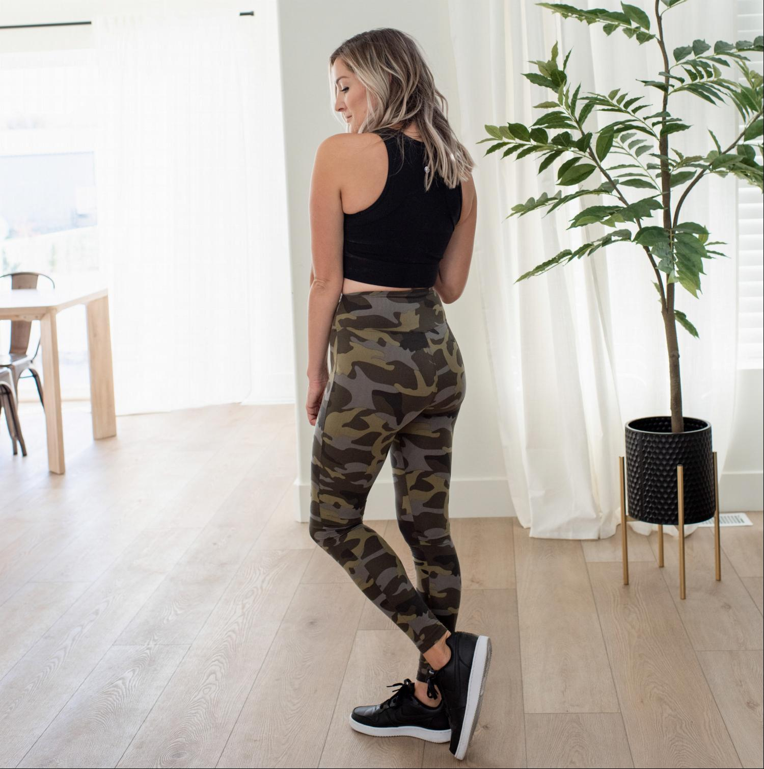 Army Camo Microfiber Camouflage Leggings