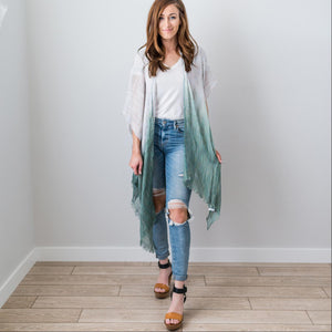 Sage Fashion Women Boho Floral Loose Shawl Kimono Cardigan Top Cover up Blouse USA