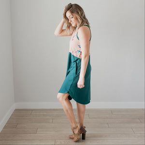 Mauve Sleeveless Floral Dress