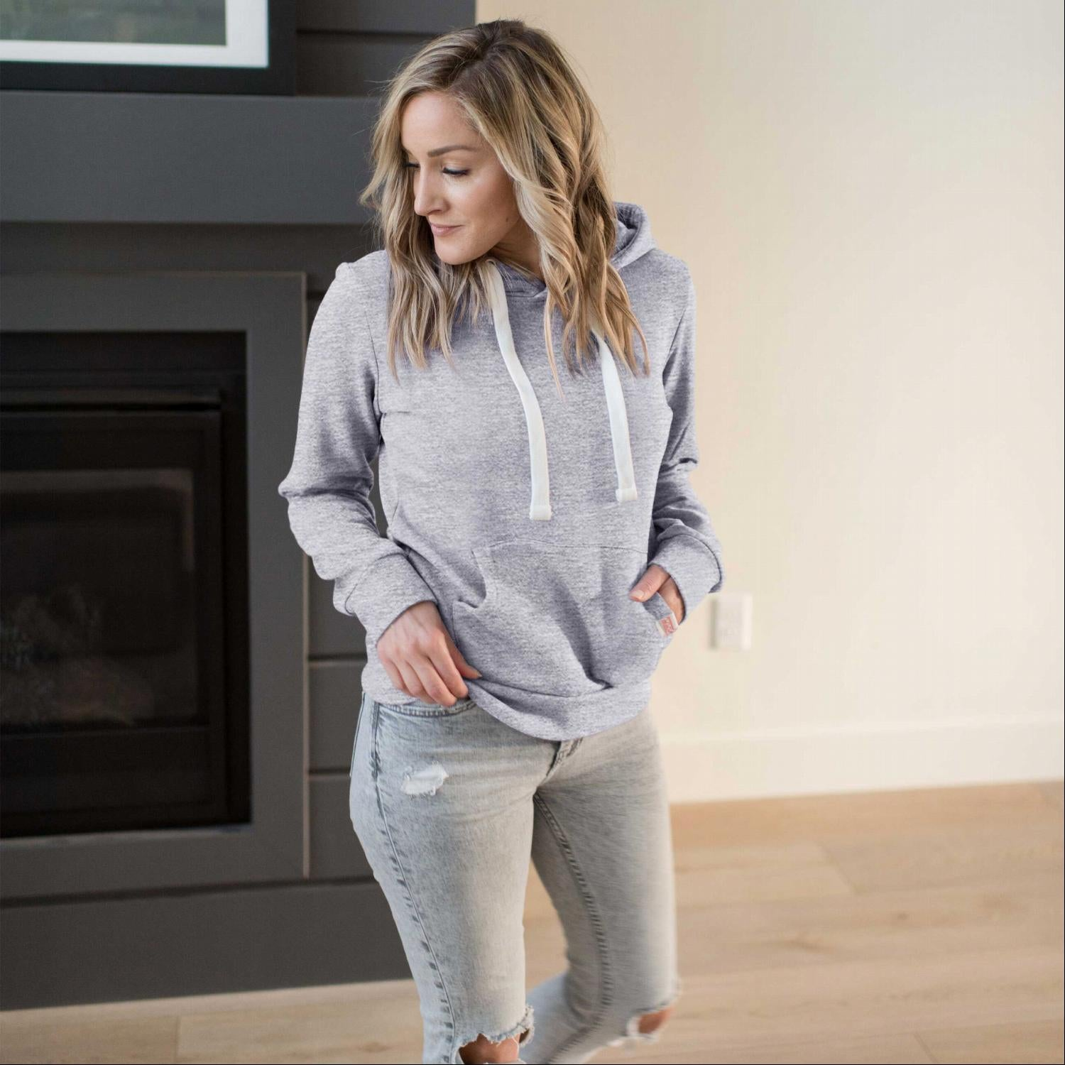Light Heather Grey Everyday Jersey Hoodie