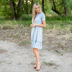 Pale Blue Midi Dress