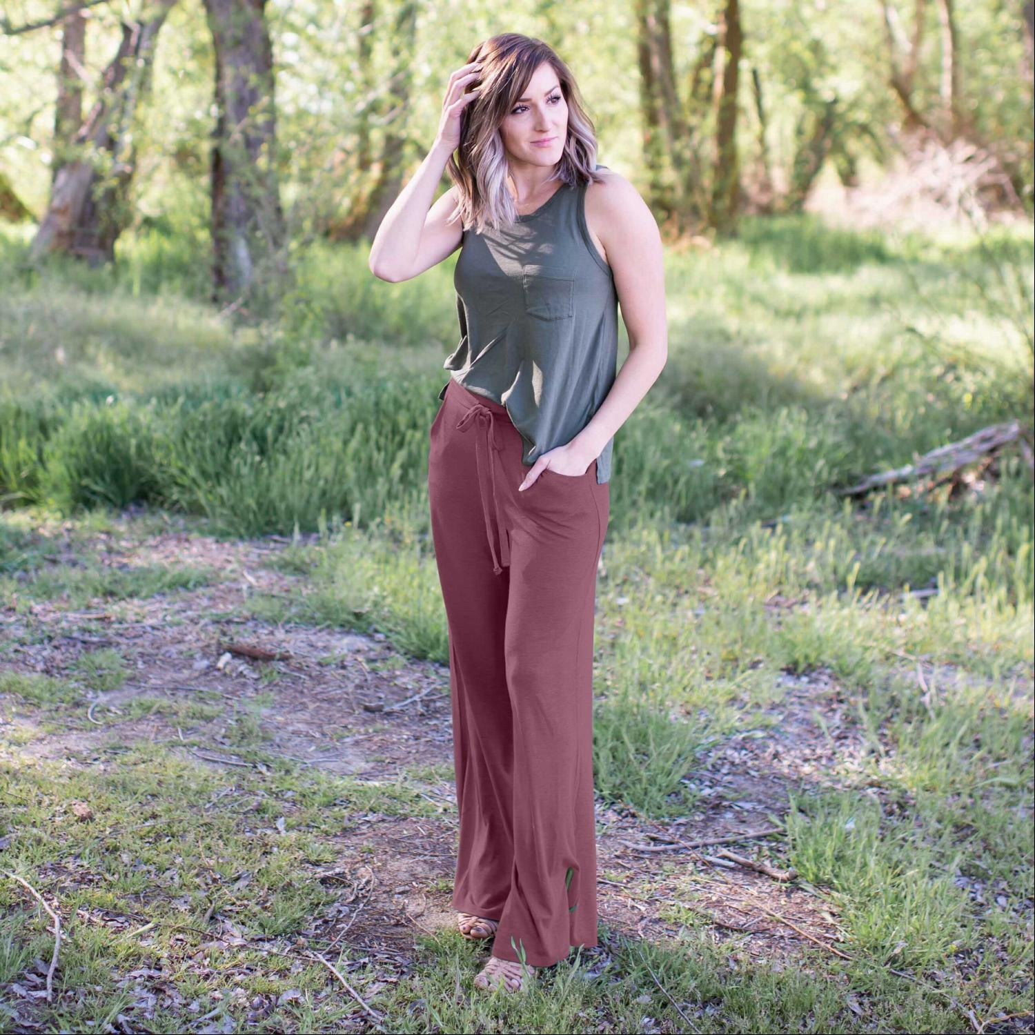 Mauve Premium Fabric Lounge Pants