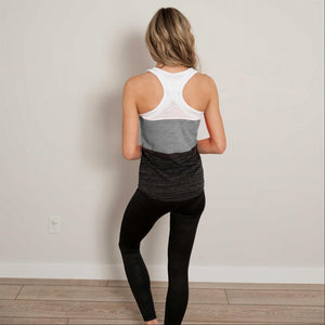 Charcoal Contrast Color Block Soft Workout Tank