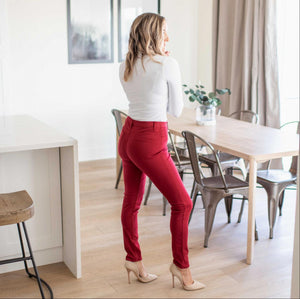 RED/Brick Red Knit Twill Jeggings