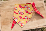 dog bandana with fox