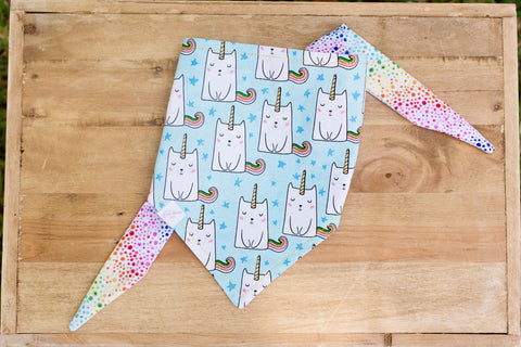 Caticorn (cat unicorn) Dog Bandana