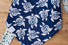 Load image into Gallery viewer, Sea Turtle in Navy Dog Bandana