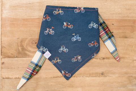 Bikes and Plaid Dog Bandana