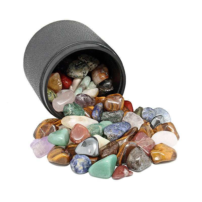 Polished stones with barrel