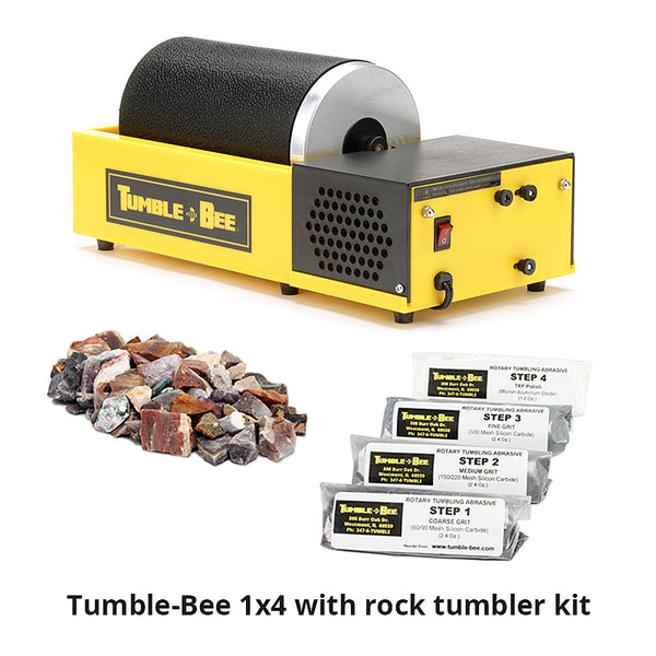 Tumble-Bee 1x4 rock tumbler with rock tumbler kit