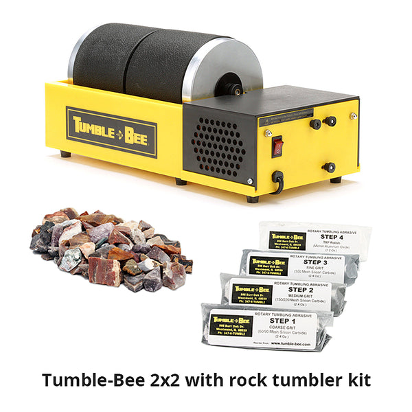 Tumble-Bee 2x2 rock tumbler with rock tumbler kit
