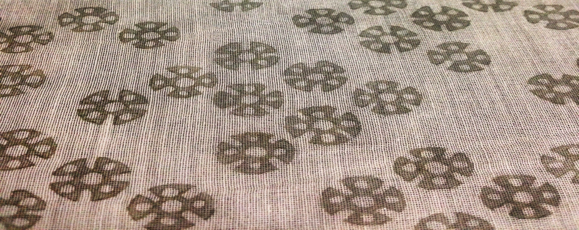 Chakri wheel-like print fabric