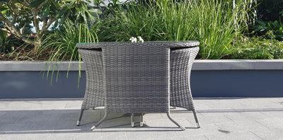 Torquay Smart Occasional 3 Pce Set in Monument and Charcoal Spun Poly Cushions