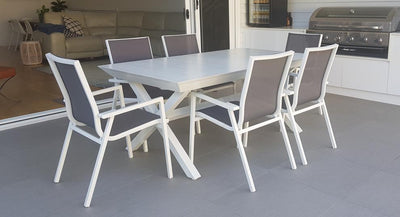 Caribbean & Grey Sling Maldives 7pc Dining Suite