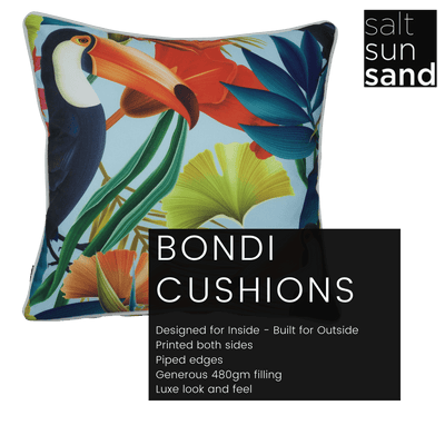 Bondi Toucant Say That - 45 x 45 cm Piped Cushion