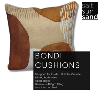 Bondi Red Centre - 45 x 45 cm Piped Cushion