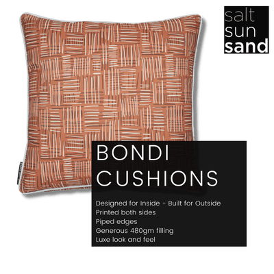 Bondi Kimberley Haze - 45 x 45 cm Piped Cushion