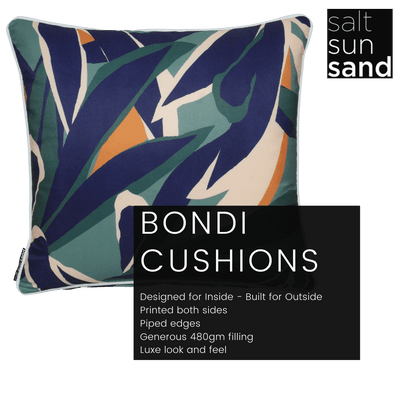 Bondi Treeline - 45 x 45 cm Piped Cushion
