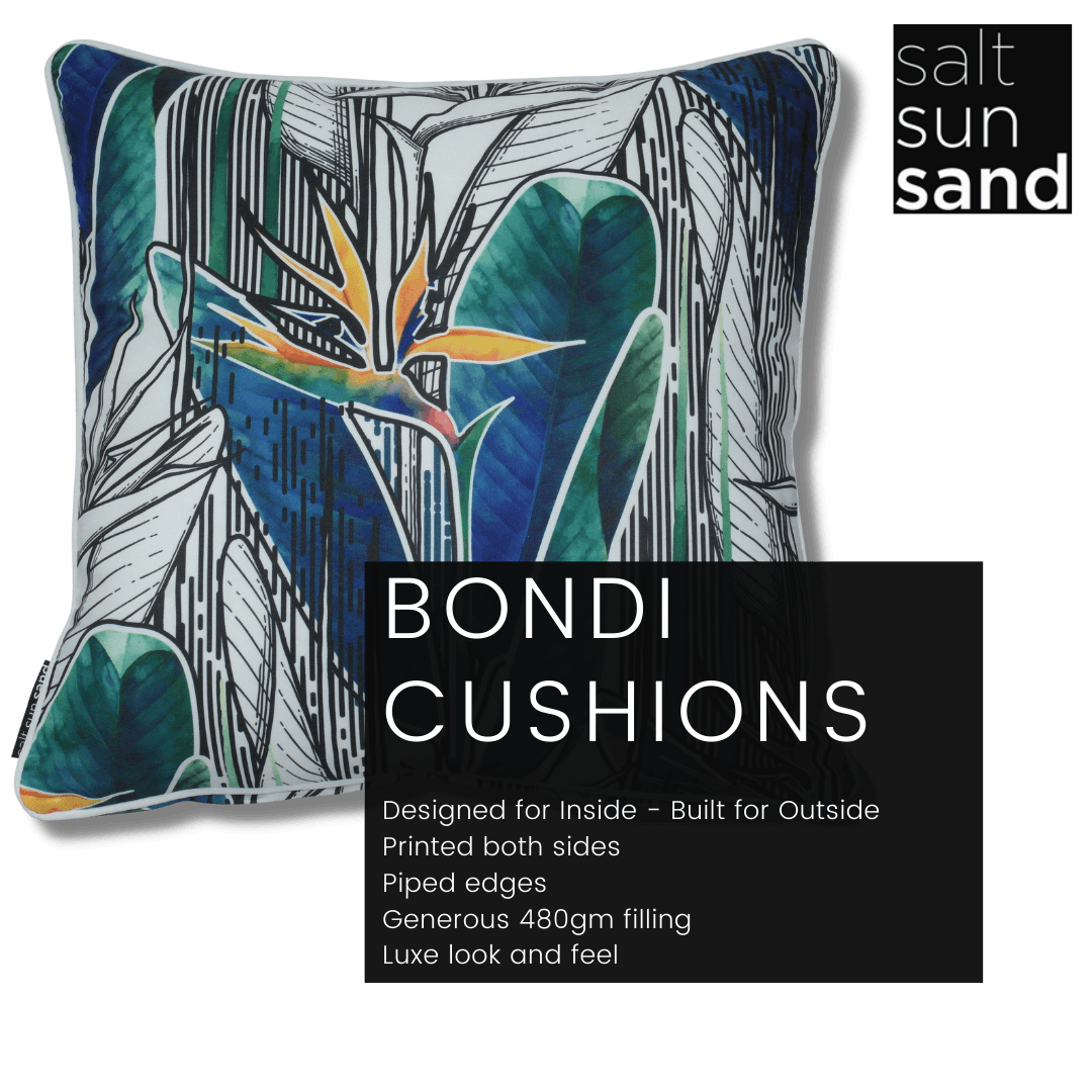 Bondi Welcome To Paradise - 45 x 45 cm Piped Cushion