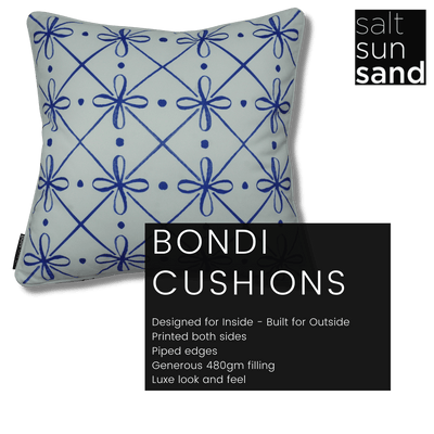 Bondi Porto Paradise - 45 x 45 cm Piped Cushion