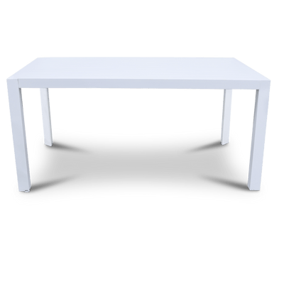 Bahamas Rectangle Dining Table (160x104cm) in Arctic White Aluminium