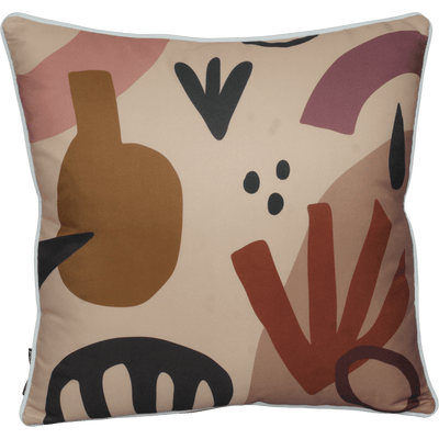 Bondi Dreamtime - 45 x 45 cm Piped Cushion