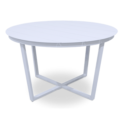 Amalfi Round Dining Table in Arctic White Aluminium