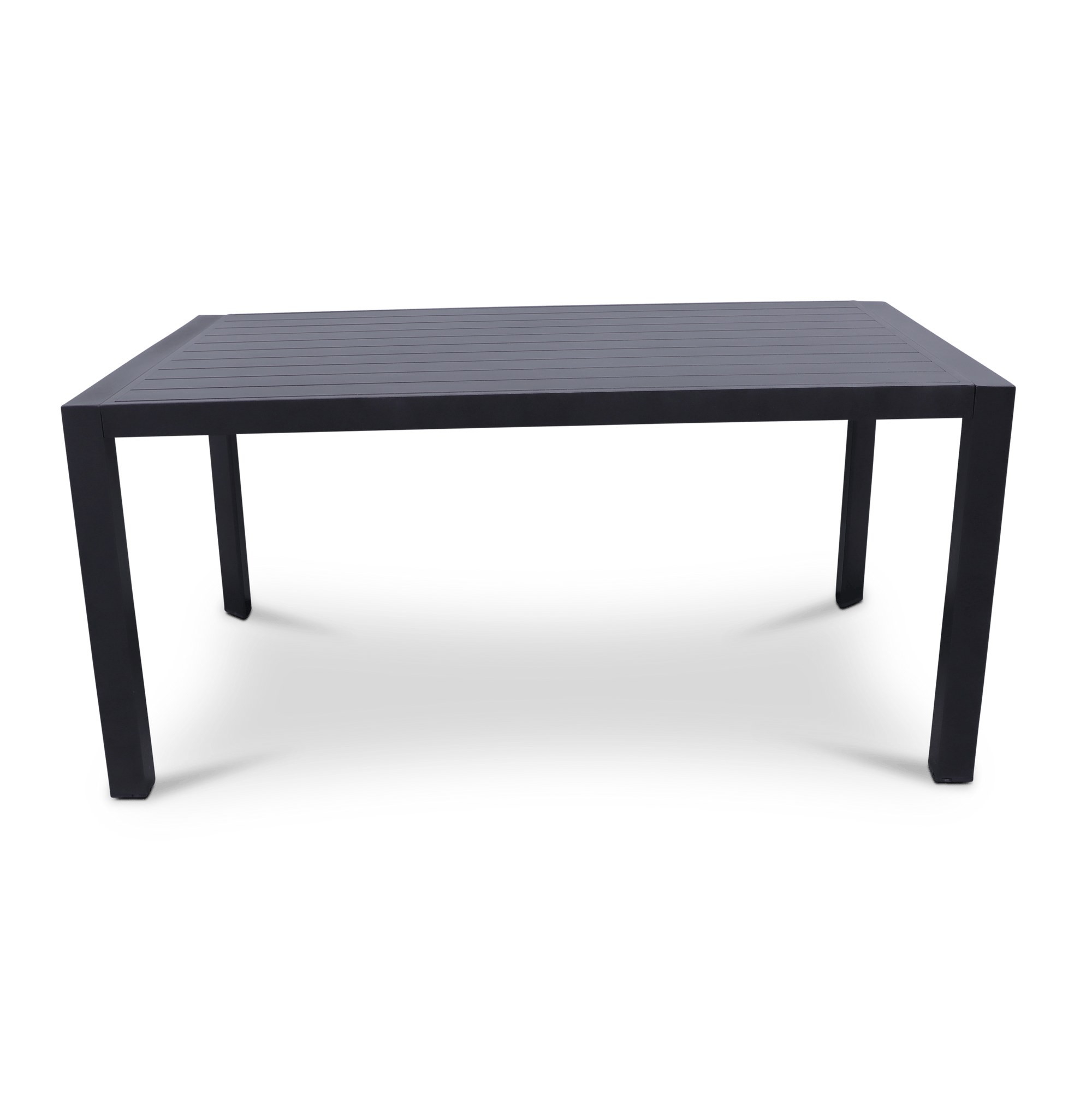 Bahamas Rectangle Dining Table (160x104cm) in Gunmetal Aluminium
