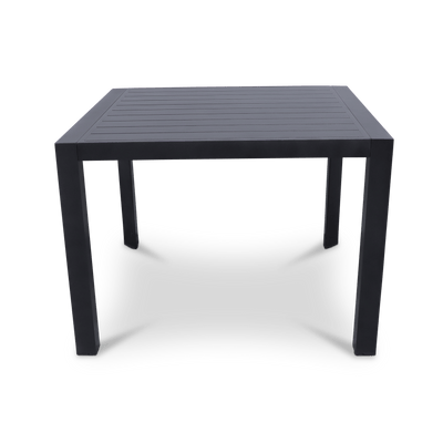 Bahamas Square Dining Table (104x104cm) in Gunmetal Aluminium